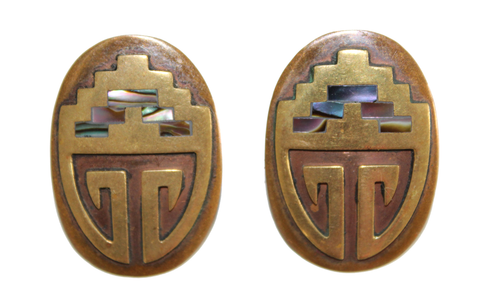 Shelled Shield Earrings