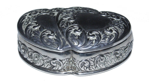 Nifty Thrifty Love Sterling Silver Ornate Open Heart Jewelry Box