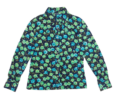 70's Flower Bomb Button Up M