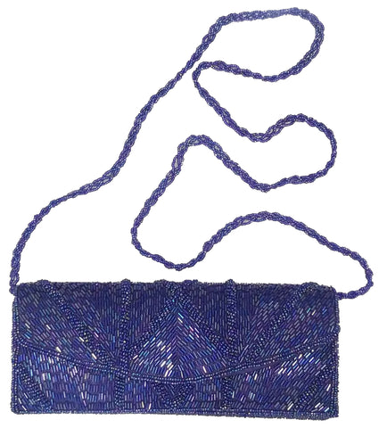 Mystic Blue Waters Beaded Purse/Clutch