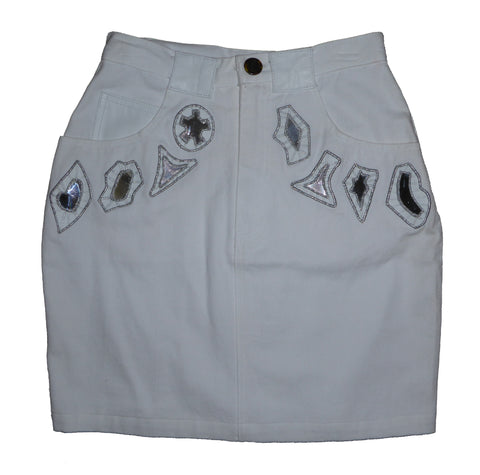 Mirror Mirror On The Wall Denim Skirt 10