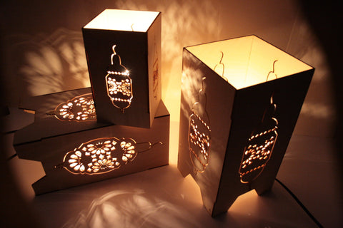 Large Contemporary Moroccan cut out lamp