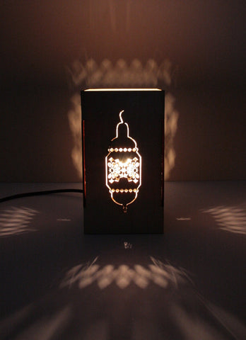 Small Contemporary Moroccan cut out lamp