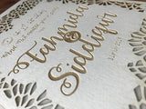 Personalised Wedding / Nikah Cutout