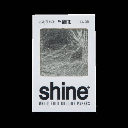 Shine 24k White Gold King Size Rolling Papers - 1 1/4 Size