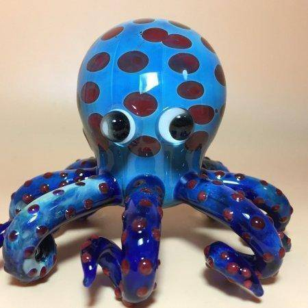 Blue Octopus Spoon Pipe