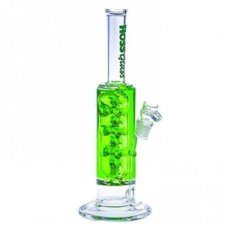 Hoss Glass 11 Inch Bong with Glycerine Cooling Chamber and Micro Mouthpiece H093