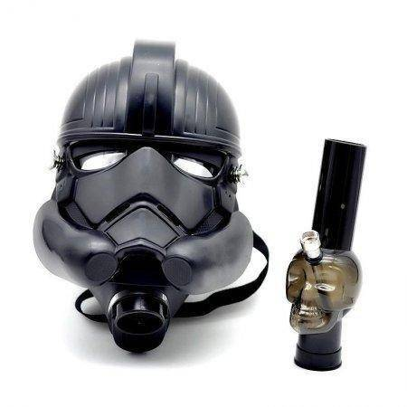 Storm Trooper Gas Mask W/ Acrylic Bong - 3 Variaitons