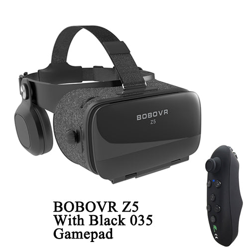Virtual Reality Headset with Stereo Headphones and Game Pad
