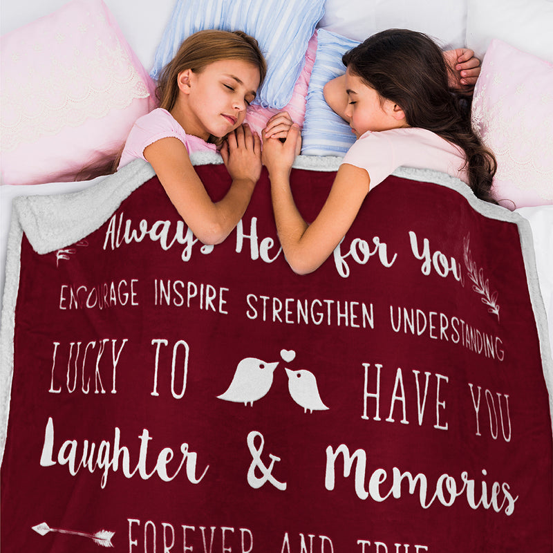 Love and Friendship Sherpa Throw Blanket