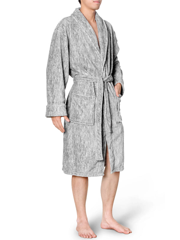 Men's Melange Fleece Robe