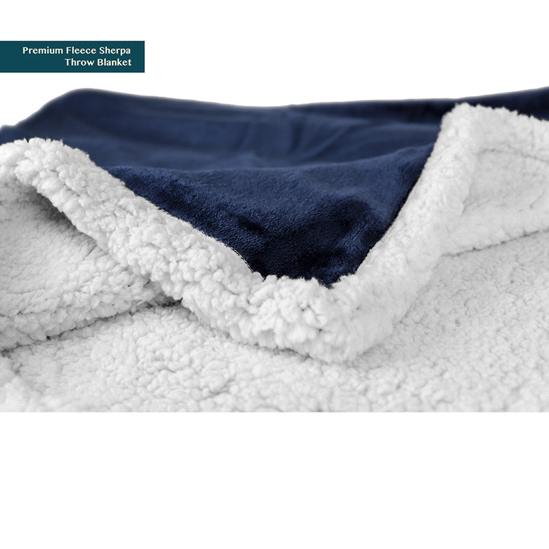 Premium Sherpa Fleece Throw Blanket