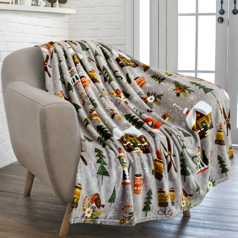 Pavilia Christmas Plush Fleece Throw Blanket