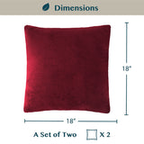 Classic Fleece Pillow Cover - Set of 2