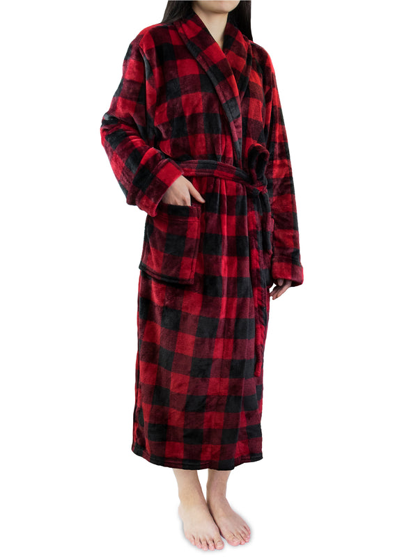 Women's Checkered Robe