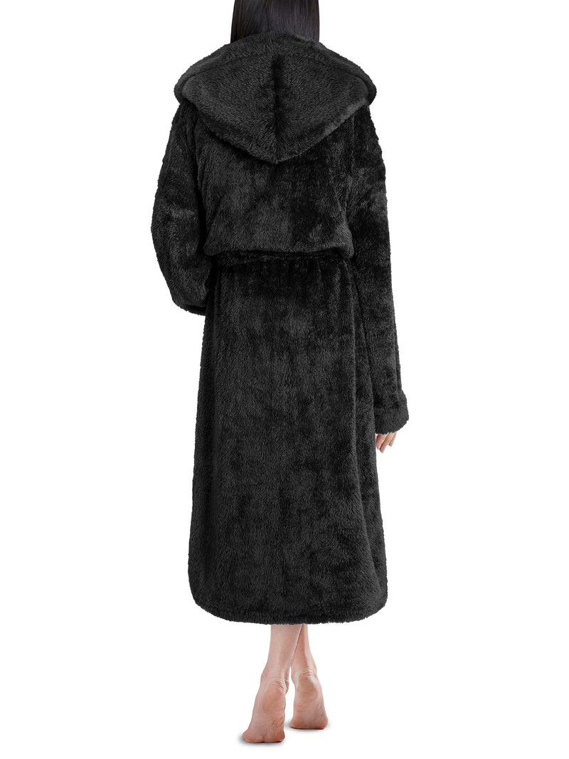 Women's Sherpa Fluffy Robe with Hood
