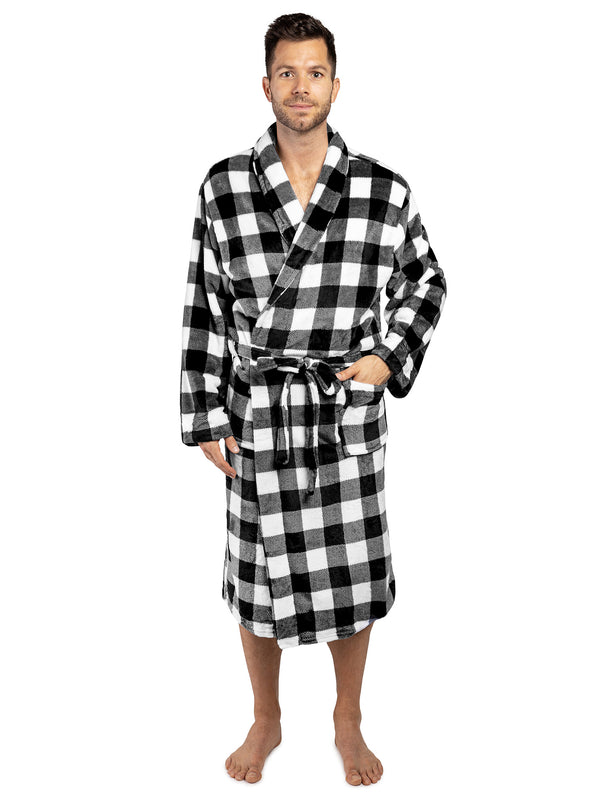 Men's Checkered Robe