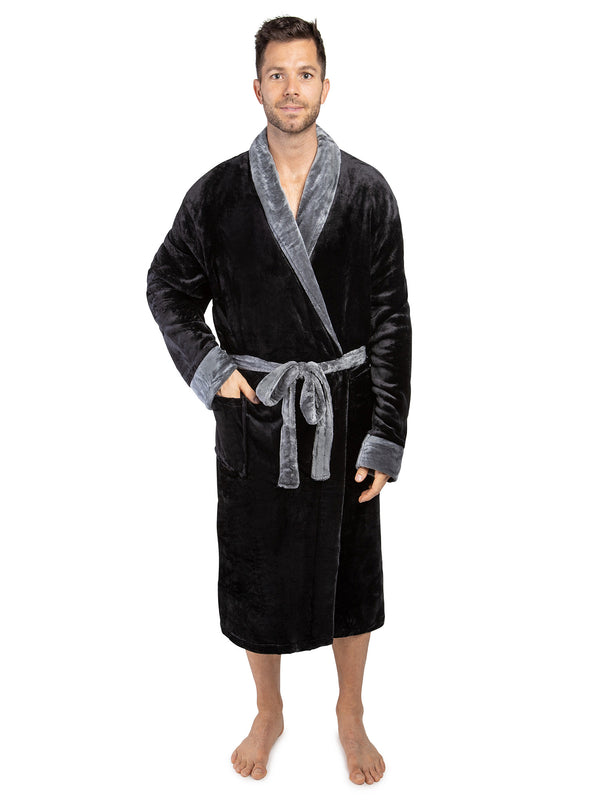 Men's Two-Tone Fleece Robe
