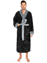 Men's Two-Tone Sherpa Fluffy Robe