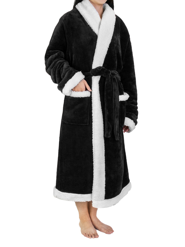 Women's Premium Sherpa Fleece Robe