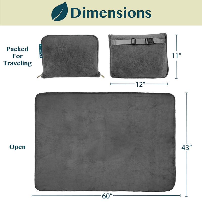 Premium Fleece Travel Blanket Pillow