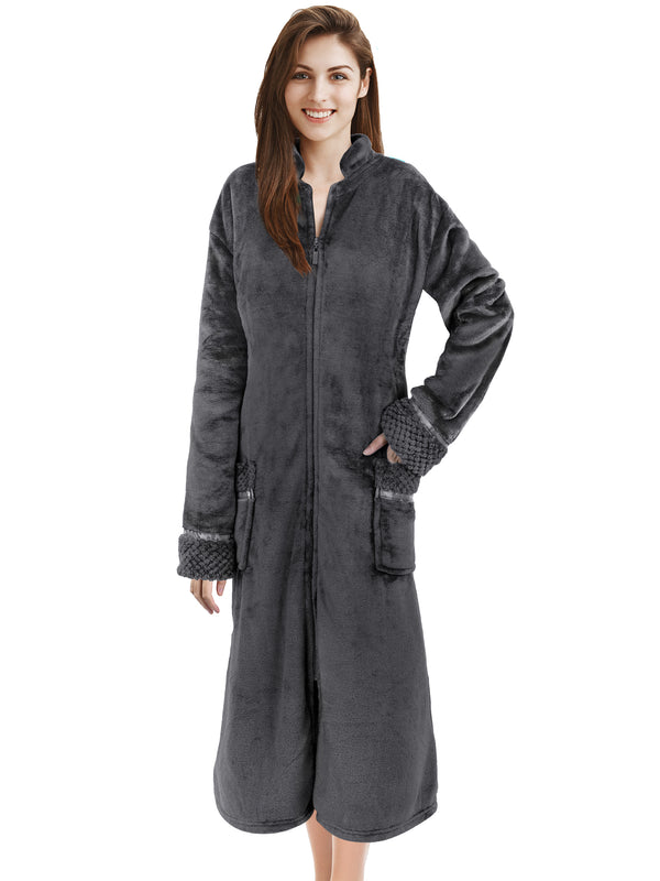 Women's Housecoat Zipper Robe
