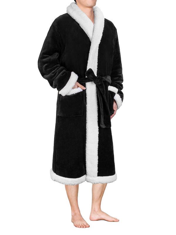 Men's Premium Sherpa Fleece Robe