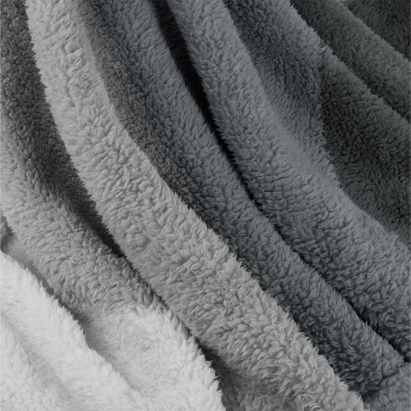 Gradient Ombre Shaggy Sherpa Blanket