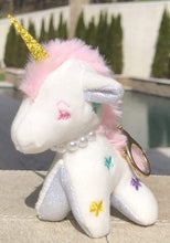 Load image into Gallery viewer, Jewel Unicorn Purse Charm - White,addison-s-addictions-handbags-accessories-2