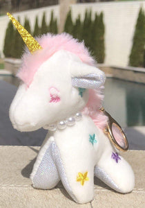 Jewel Unicorn Purse Charm - White,addison-s-addictions-handbags-accessories-2