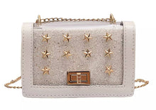 Load image into Gallery viewer, Oh My Stars Handbag - White,addison-s-addictions-handbags-accessories-2