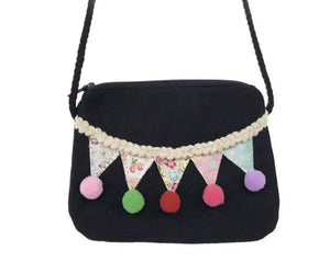 Pom Pom Fiesta Coin Purse -Black,addison-s-addictions-handbags-accessories-2