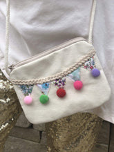 Load image into Gallery viewer, Pom Pom Fiesta Coin Purse -Ivory,addison-s-addictions-handbags-accessories-2