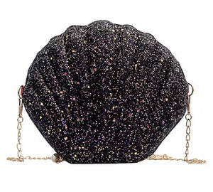 Uma Seashell Handbag - Black Sparkle,addison-s-addictions-handbags-accessories-2