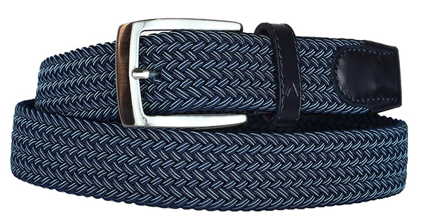 ALBERTO BRAIDED MULT NAVY/TEAL STRETCH