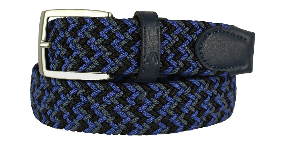 ALBERTO BRAIDED MULTI-STRETCH BELT NAVY 8331