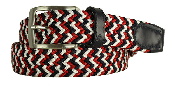 ALBERTO BRAIDED MULTI-STRETCH BELT RED 8331