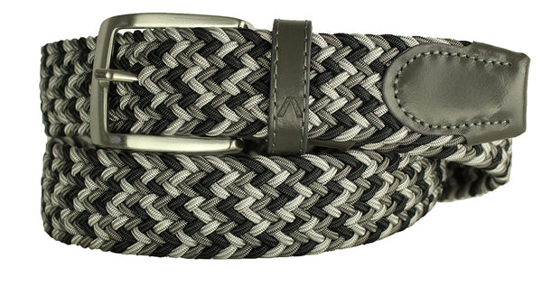 ALBERTO BRAIDED MULTI-STRETCH BELT GREY 8331