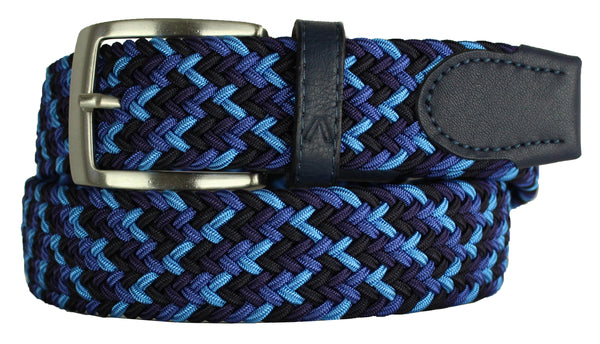 ALBERTO BRAIDED MULTI-STRETCH BELT BLUE 8331