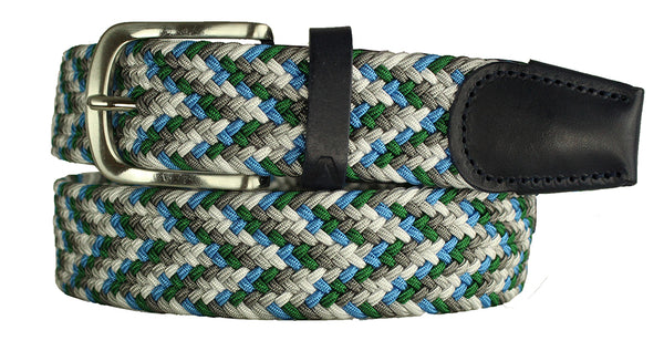 ALBERTO BRAIDED MULTI-STRETCH BELT GREEN 8334