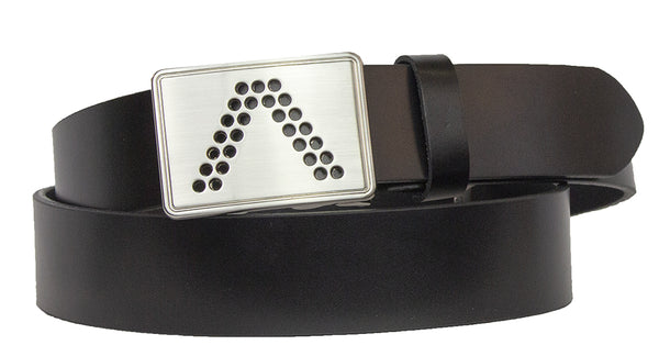 ALBERTO BLACK LEATHER BELT