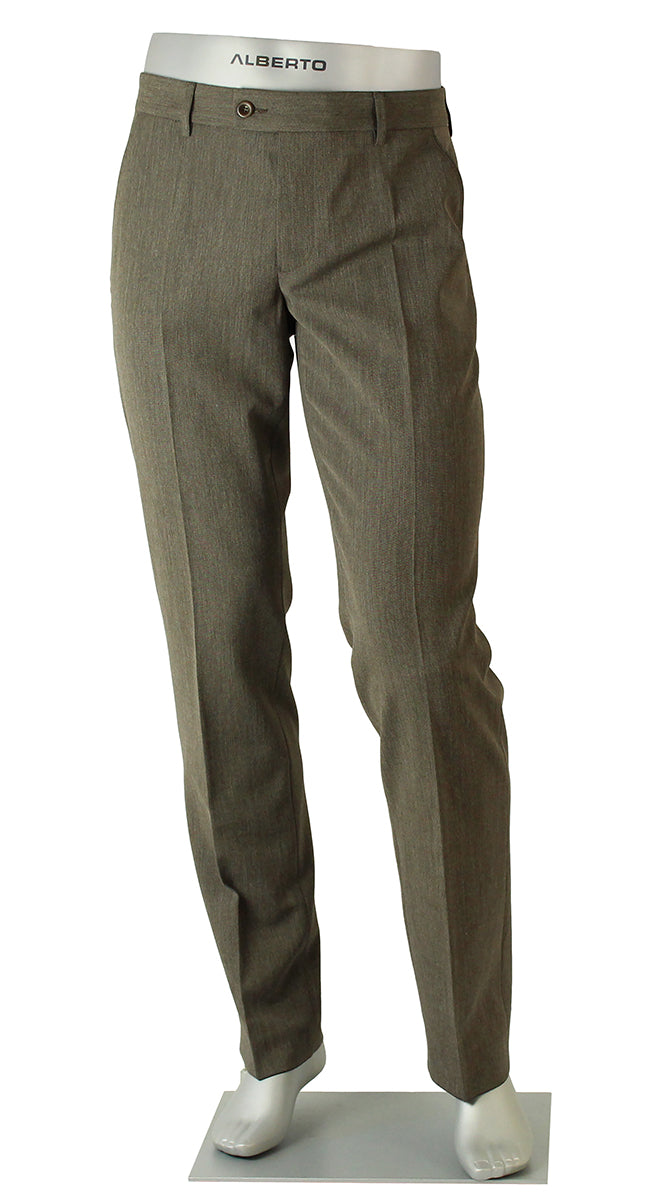 ALBERTO CERAMICA GEORGE DRESS PANT HEATHER BROWN 0039