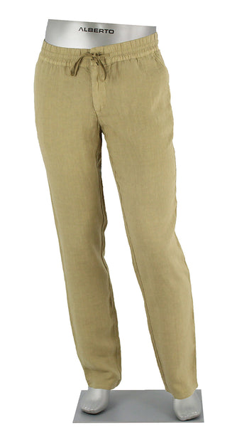 Linen Draw String Pant Tan
