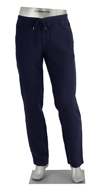Linen Draw String Pant Navy