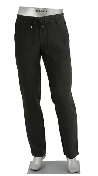 Linen Draw String Pant Black