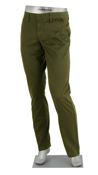 LOU COTTON STRETCH PANT OLIVE