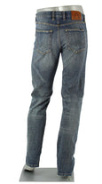 ALBERTO JEANS PIPE AUTHENTIC DENIM WASHED MED BLUE P1896-883 1896