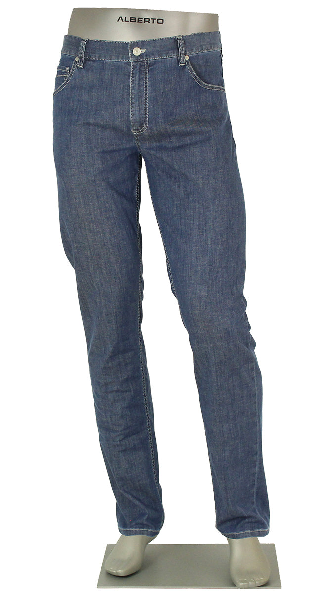 ALBERTO JEANS TOMMY DENIM LIGHT WEIGHT T400 BLUE COMFORT FIT T1375-875