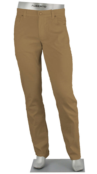 STONE LINEN/COTTON STRETCH KHAKI