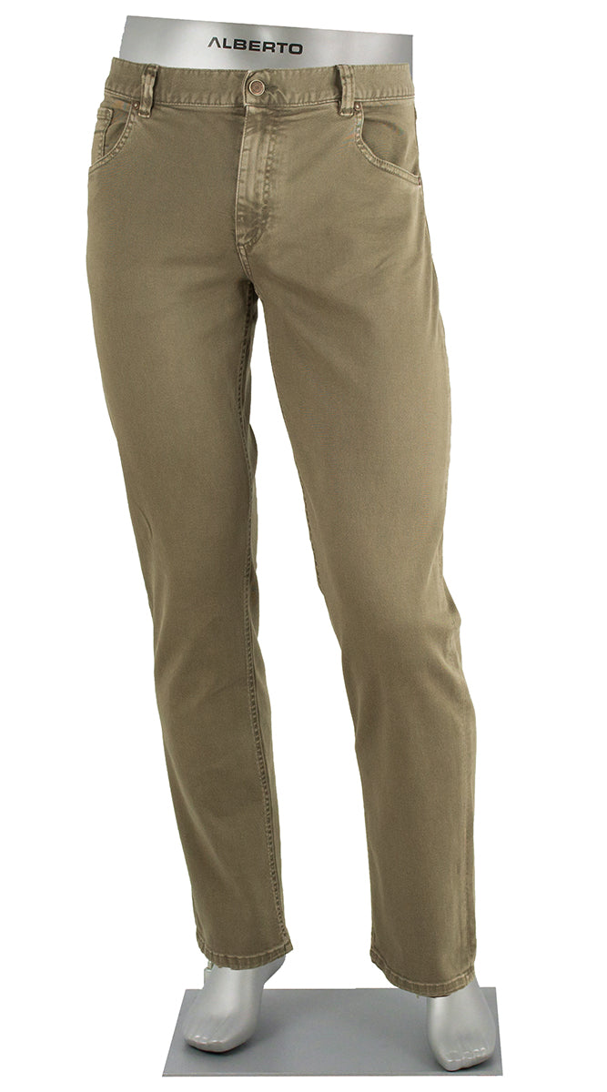 ALBERTO JEANS STONE SUPER STRETCH COLORED DENIM KHAKI ST1688-540 1688